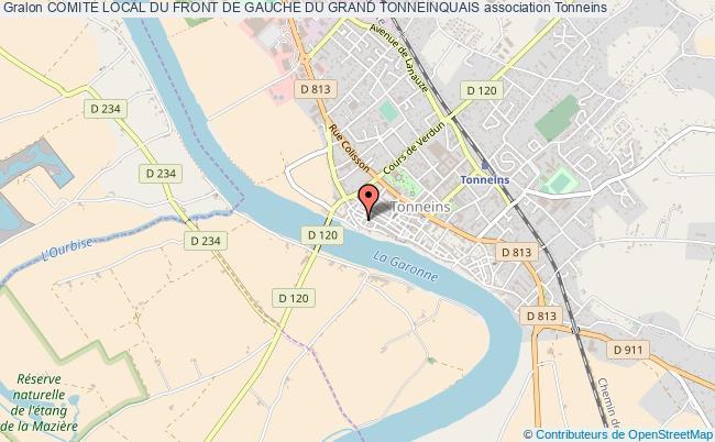 plan association Comite Local Du Front De Gauche Du Grand Tonneinquais
