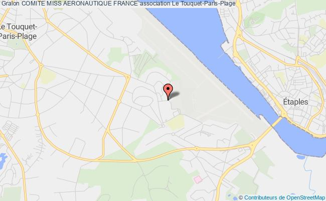 plan association Comite Miss Aeronautique France Le Touquet-Paris-Plage