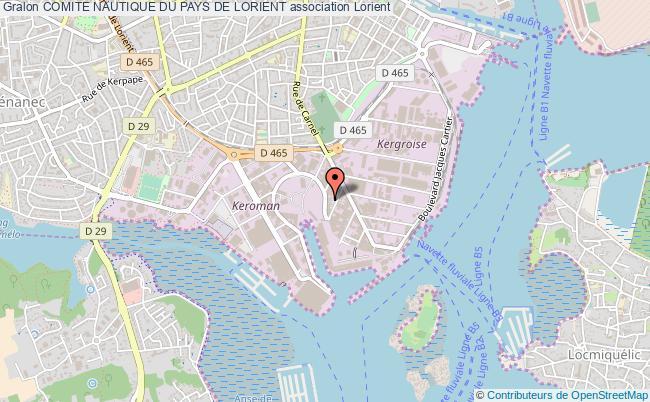 plan association Comite Nautique Du Pays De Lorient