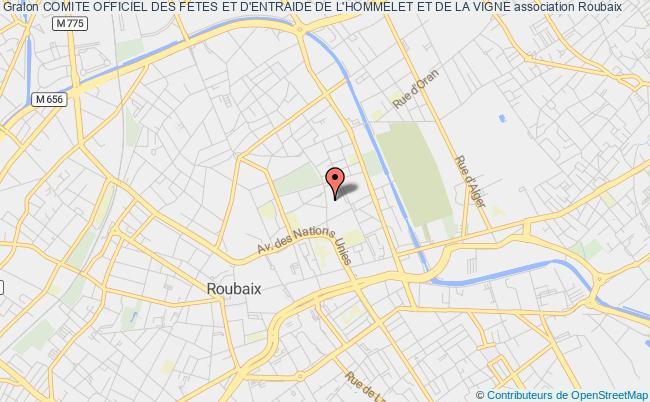 plan association Comite Officiel Des Fetes Et D'entraide De L'hommelet Et De La Vigne Roubaix