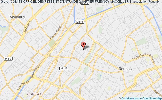 plan association Comite Officiel Des Fetes Et D'entraide Quartier Fresnoy Mackellerie