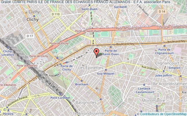 plan association Comite Paris Ile De France Des Echanges Franco Allemands - E.f.a.
