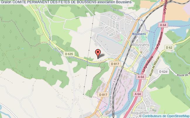 plan association Comite Permanent Des Fetes De Boussens Boussens