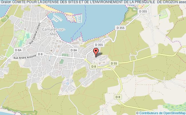 plan association Comite Pour La Defense Des Sites Et De L'environnement De La Presqu'ile  De Crozon