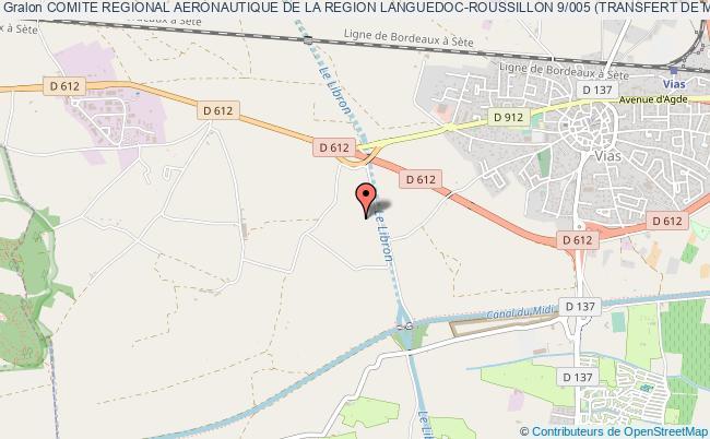 plan association Comite Regional Aeronautique De La Region Languedoc-roussillon 9/005 (transfert De Montpellier) Vias