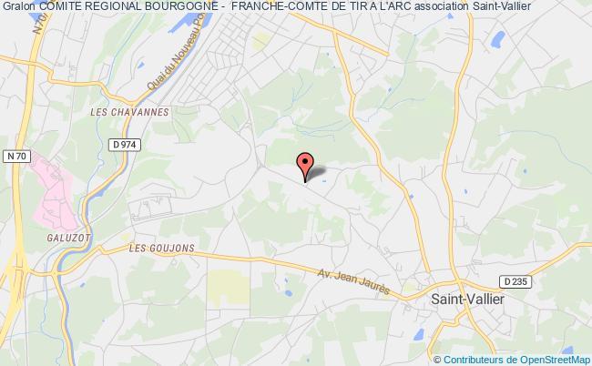 plan association Comite Regional Bourgogne -  Franche-comte De Tir A L'arc