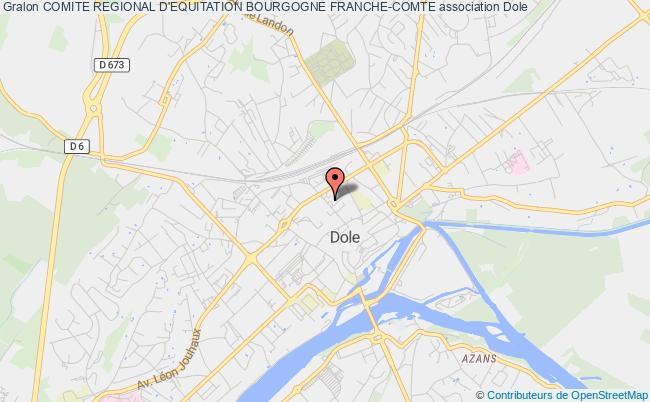 plan association Comite Regional D'equitation Bourgogne Franche-comte Dole