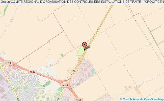 """plan association Comite Regional D'organisation Des Controles Des Installations De Traite - """"crocit Centre Est"""""""