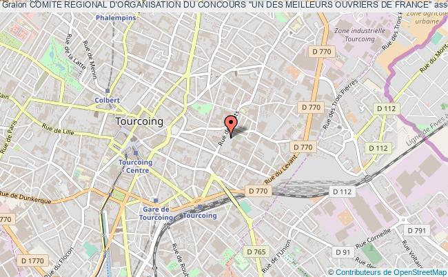 plan association Comite Regional D'organisation Du Concours ''un Des Meilleurs Ouvriers De France'' Tourcoing