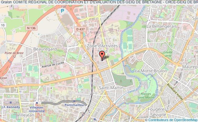 plan association Comite Regional De Coordination Et D'evaluation Des Geiq De Bretagne - Crce-geiq De Bretagne Rennes
