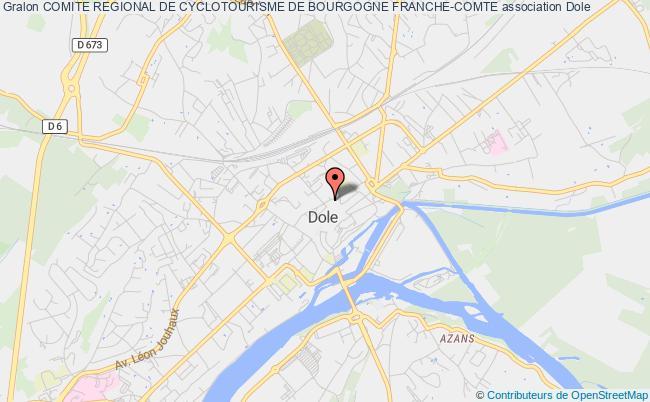 plan association Comite Regional De Cyclotourisme De Bourgogne Franche-comte Dole