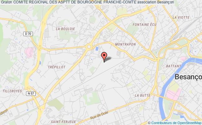 plan association Comite Regional Des Asptt De Bourgogne Franche-comte