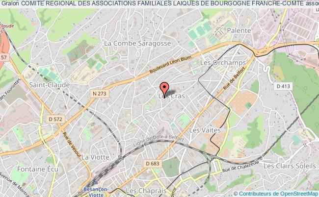 plan association Comite Regional Des Associations Familiales Laiques De Bourgogne Franche-comte