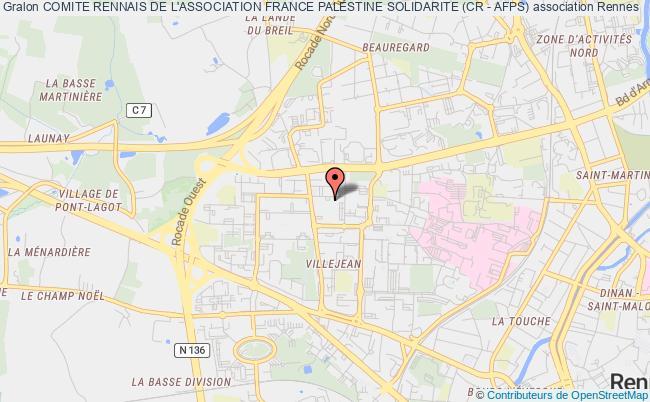 plan association Comite Rennais De L'association France Palestine Solidarite (cr - Afps) Rennes