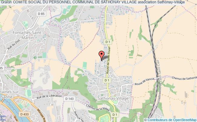 plan association Comite Social Du Personnel Communal De Sathonay Village