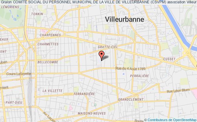plan association ComitÉ Social Du Personnel Municipal De La Ville De Villeurbanne (csvpm)