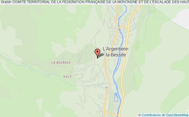 plan association Comite Territorial De La Federation FranÇaise De La Montagne Et De L'escalade Des Hautes Alpes