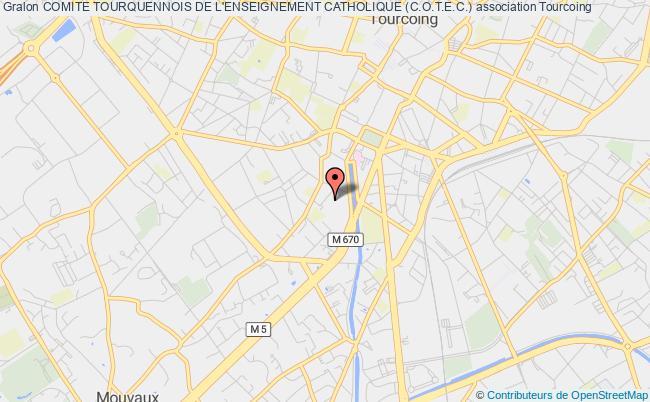 plan association Comite Tourquennois De L'enseignement Catholique (c.o.t.e.c.)