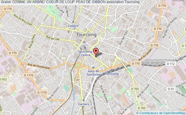 plan association Comme Un Arbre/ Coeur De Loup Peau De Gibbon Tourcoing