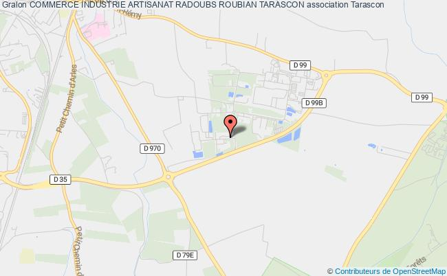 plan association Commerce Industrie Artisanat Radoubs Roubian Tarascon