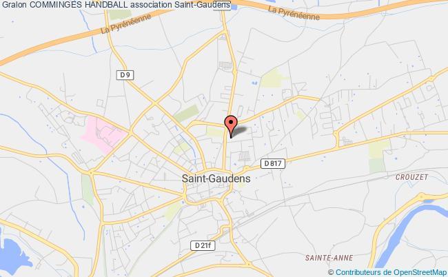 plan association Comminges Handball Saint-Gaudens