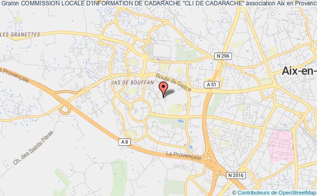 """plan association Commission Locale D'information De Cadarache """"cli De Cadarache"""""""