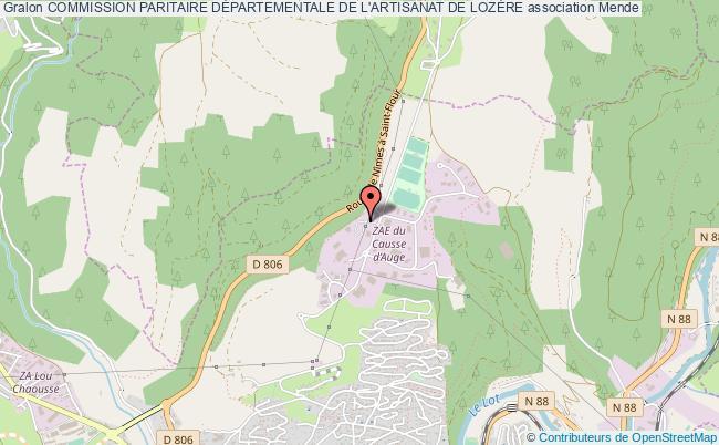 plan association Commission Paritaire DÉpartementale De L'artisanat De LozÈre