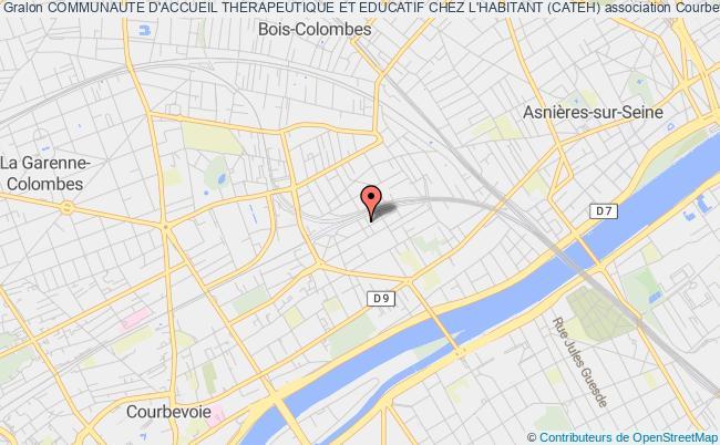 plan association Communaute D'accueil Therapeutique Et Educatif Chez L'habitant (cateh) Courbevoie