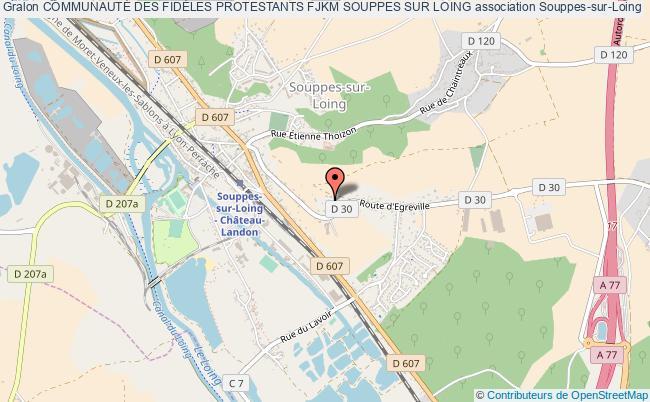 plan association CommunautÉ Des FidÈles Protestants Fjkm Souppes Sur Loing Souppes-sur-Loing