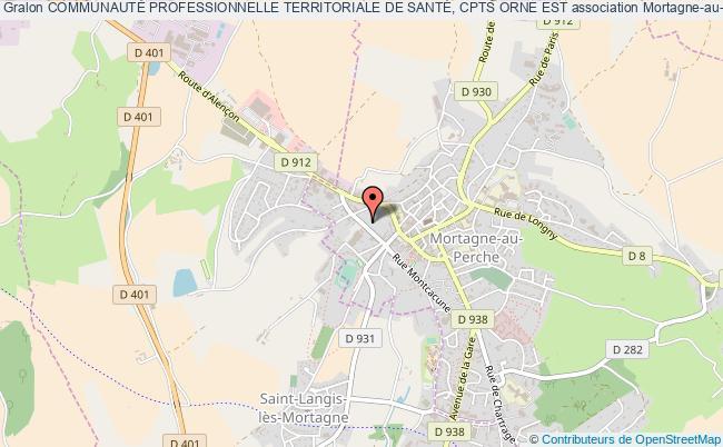plan association CommunautÉ Professionnelle Territoriale De SantÉ, Cpts Orne Est