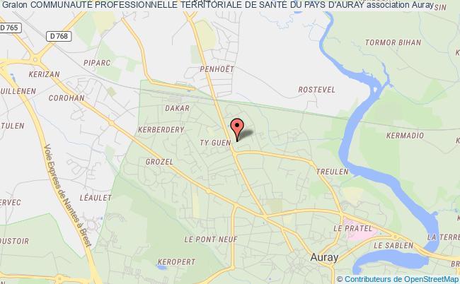 plan association CommunautÉ Professionnelle Territoriale De SantÉ Du Pays D'auray Auray