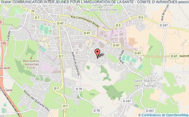 plan association Communication Inter Jeunes Pour L'amelioration De La Sante - Comite D' Avranches