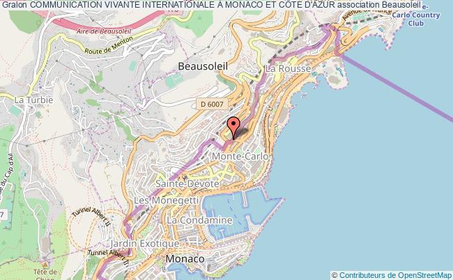 plan association Communication Vivante Internationale À Monaco Et CÔte D'azur