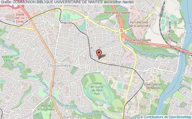 plan association Communion Biblique Universitaire De Nantes