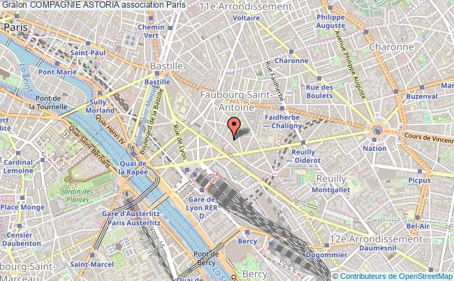 plan association Compagnie Astoria Paris