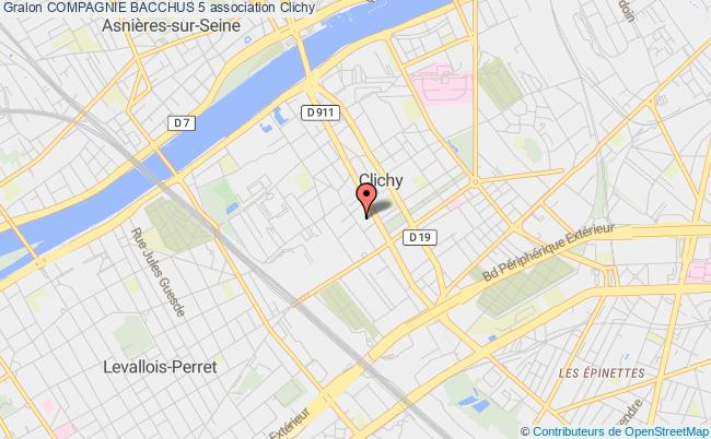 plan association Compagnie Bacchus+5 Paris 15e
