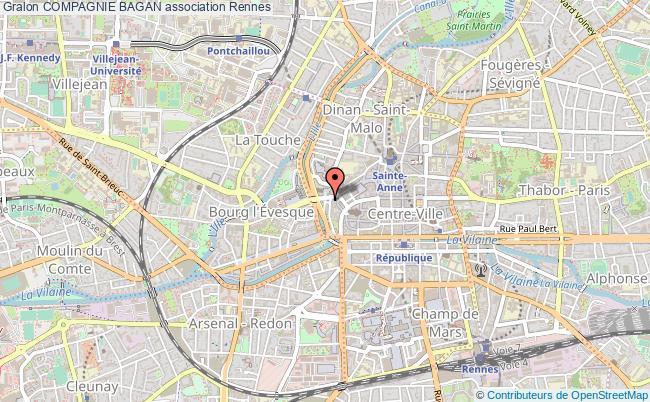 plan association Compagnie Bagan Rennes