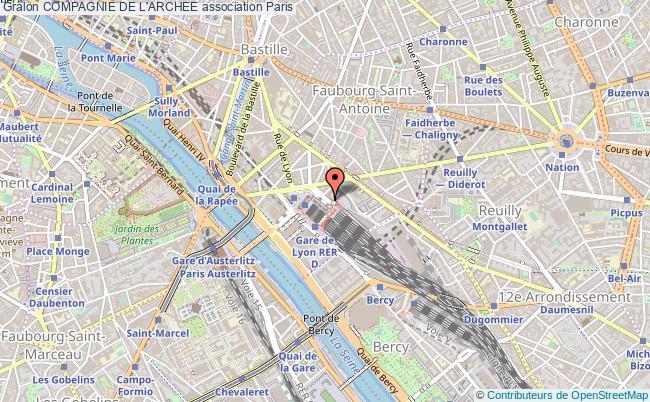 plan association Compagnie De L'archee Paris