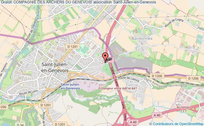 plan association Compagnie Des Archers Du Genevois Saint-Julien-en-Genevois