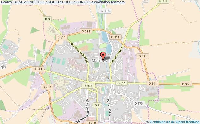 plan association Compagnie Des Archers Du Saosnois Mamers