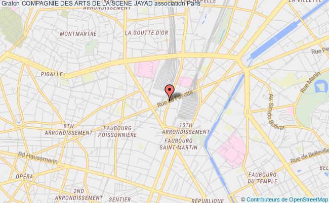 plan association Compagnie Des Arts De La Scene Jayad Montrouge