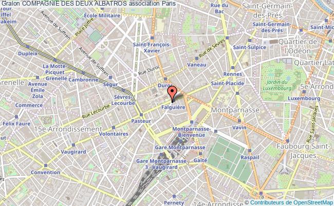 plan association Compagnie Des Deux Albatros Paris