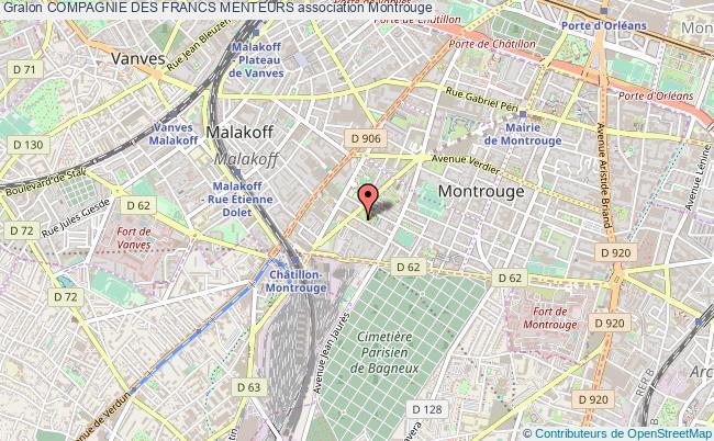 plan association Compagnie Des Francs Menteurs Montrouge
