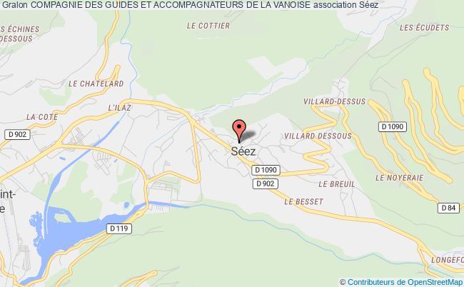 plan association Compagnie Des Guides Et Accompagnateurs De La Vanoise