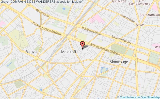 plan association Compagnie Des Wanderers Malakoff