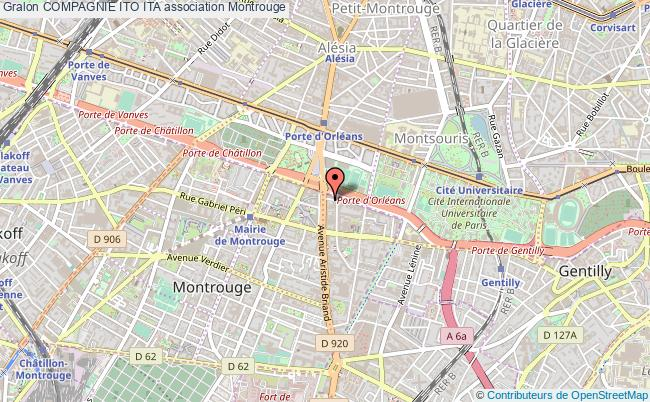 plan association Compagnie Ito Ita Montrouge