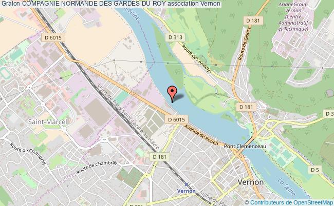 plan association Compagnie Normande Des Gardes Du Roy Vernon