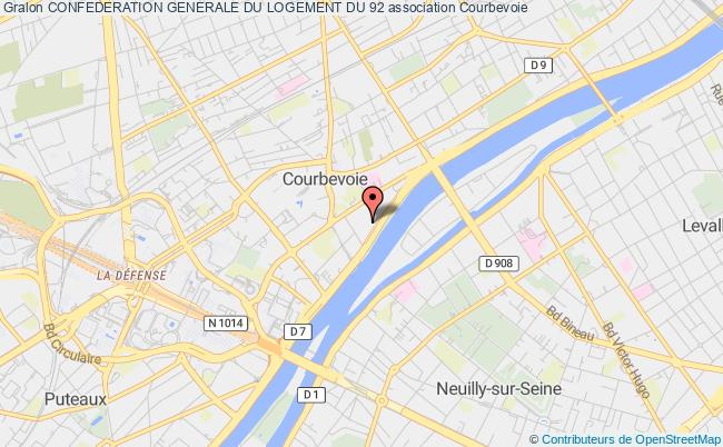 plan association Confederation Generale Du Logement Du 92 Courbevoie