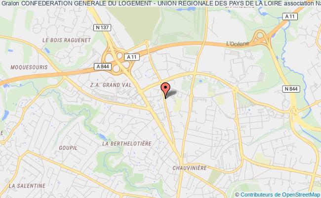 plan association Confederation Generale Du Logement - Union Regionale Des Pays De La Loire