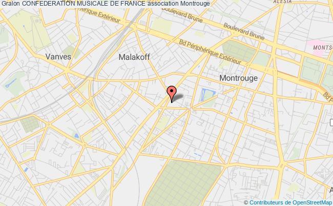 plan association Confederation Musicale De France Montrouge